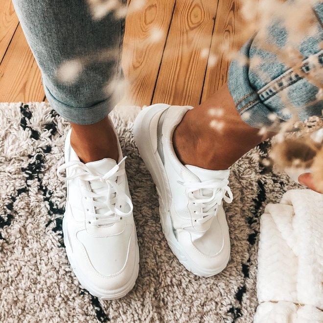 sneaker wit/zilver 6135