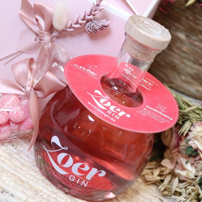 box fles zoer gin met smoelentrekkers 1x70cl
