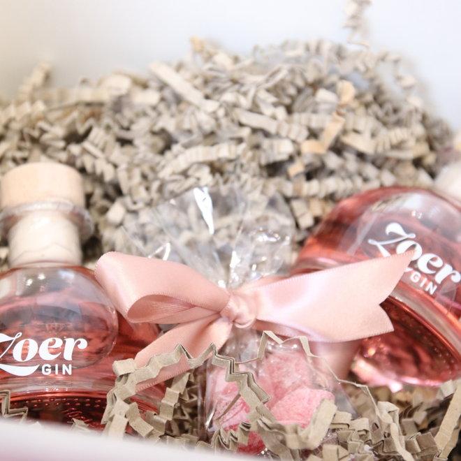 box 2 mini flesjes zoer gin met smoelentrekkers 2x10cl