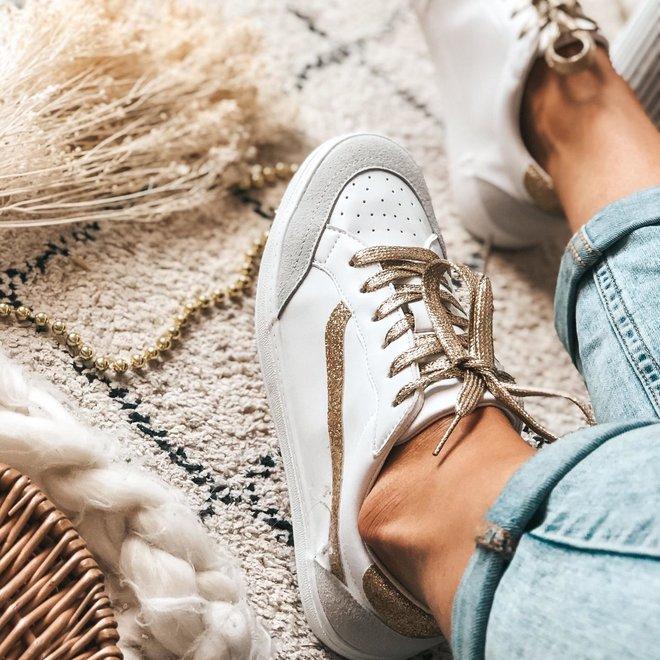 sneaker white gold hy0676