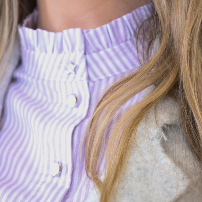 hemd streepjes met frul  2307
