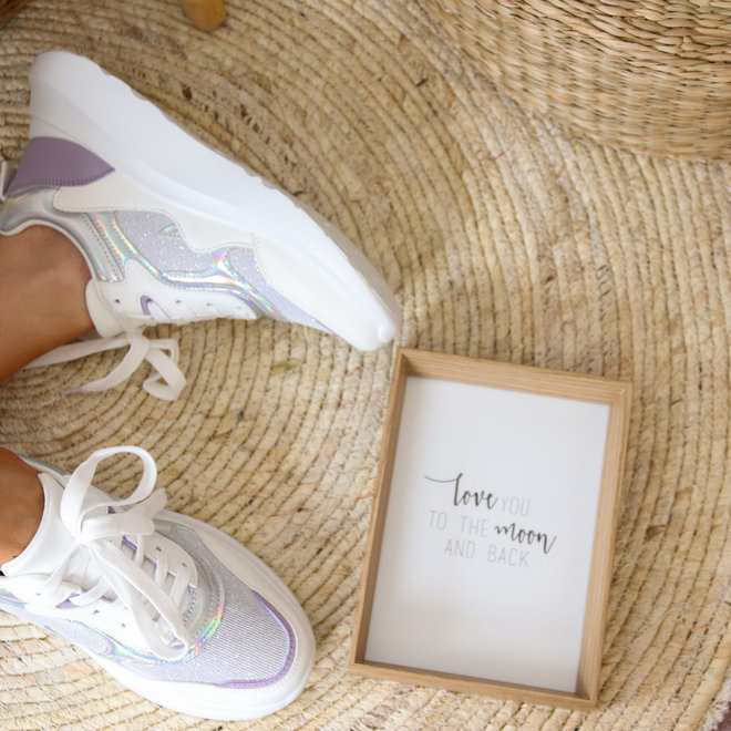 Sneaker Zilver lila L8070