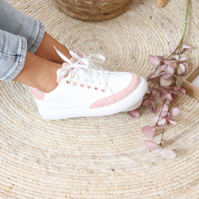 sneaker 6110 wit met accent kleurtje