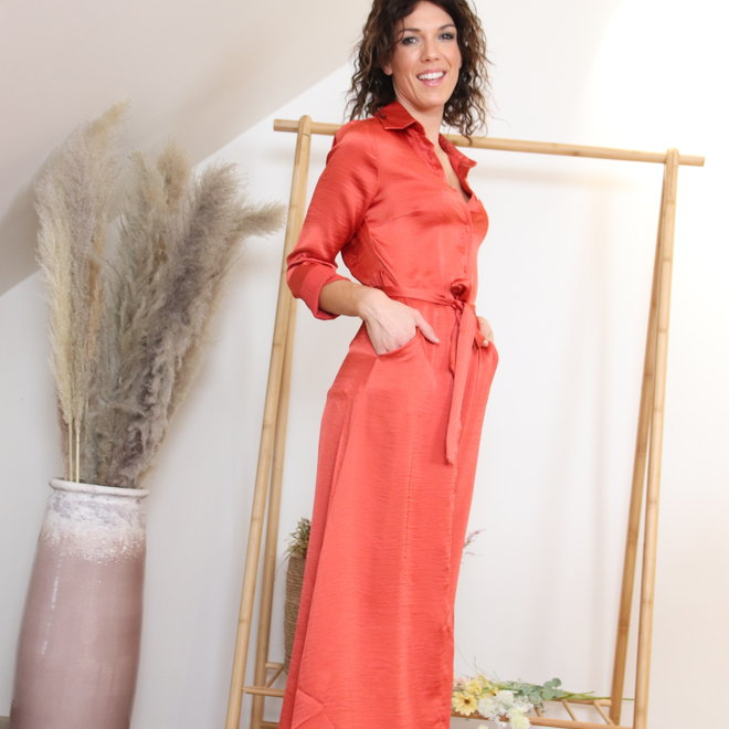 Maxi dress roest rood miracles 010013