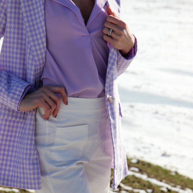 broek cotton breed met zakjes