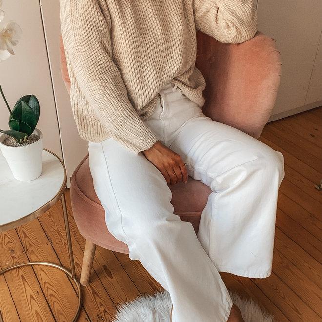 r display witte jeans wijde pijp d1305