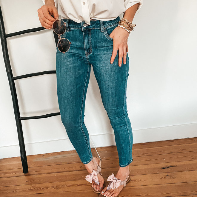 toxik jeans donker normale taille skinny L20053-3
