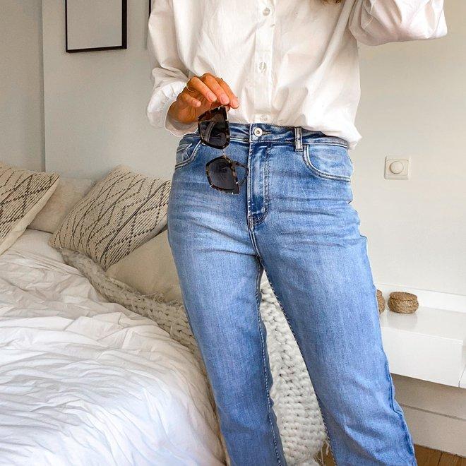 toxik L20044 brede pijp jeans