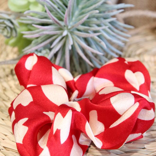 haarbandjes rood met witte hartjes
