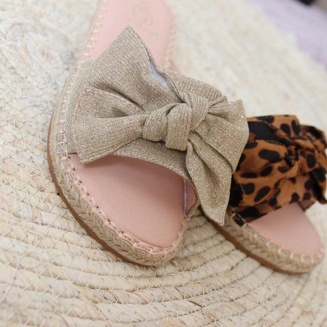 slippers met strik nn141