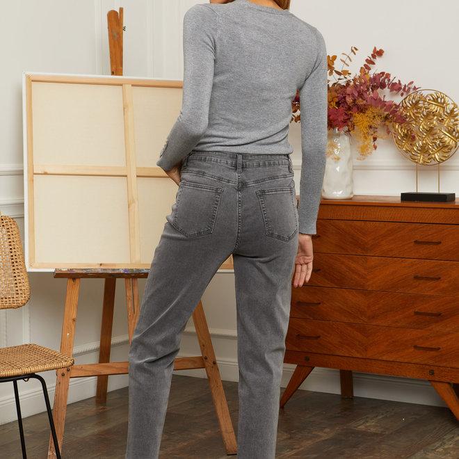 jeans grijs momjeans d1222