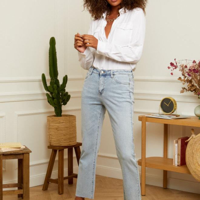 jeans recht losse pijp d1341