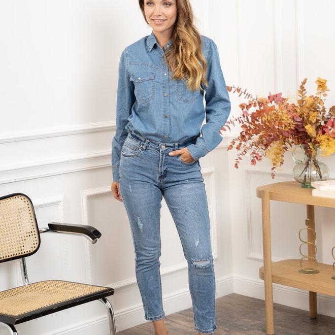 jeans skinny kleine scheurtjes  d1165