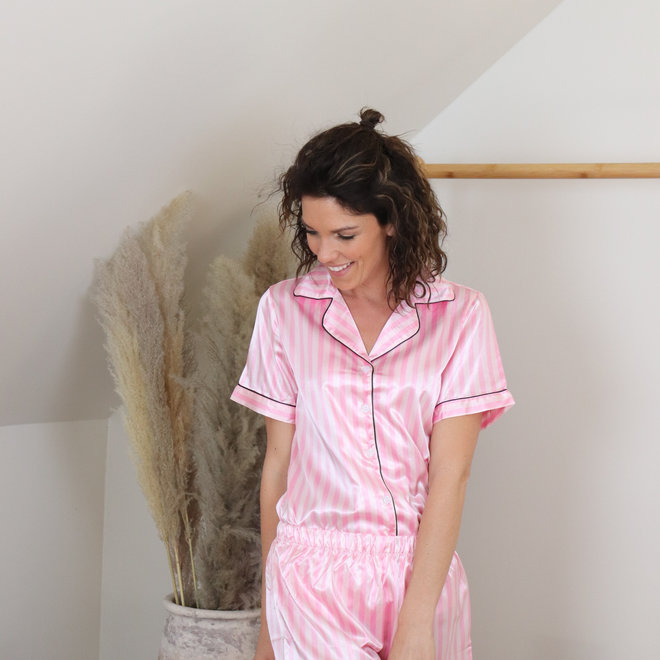 pyjama streepjes roze