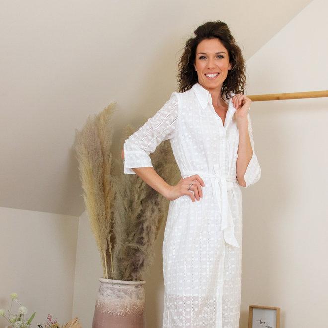 kleed h1964 witte midi dress