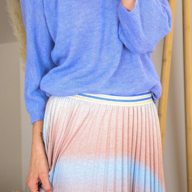 midirok rainbow lurex poeder blauw