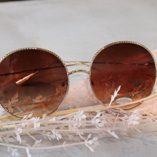 zonnebril gold rond uv 400