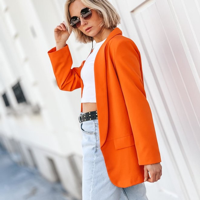 blazer oranje 7026