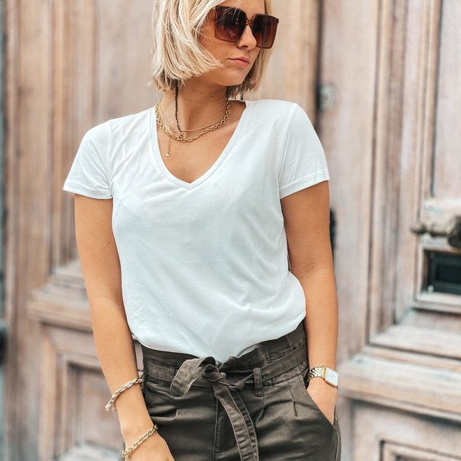 basic v neck shirt 30667