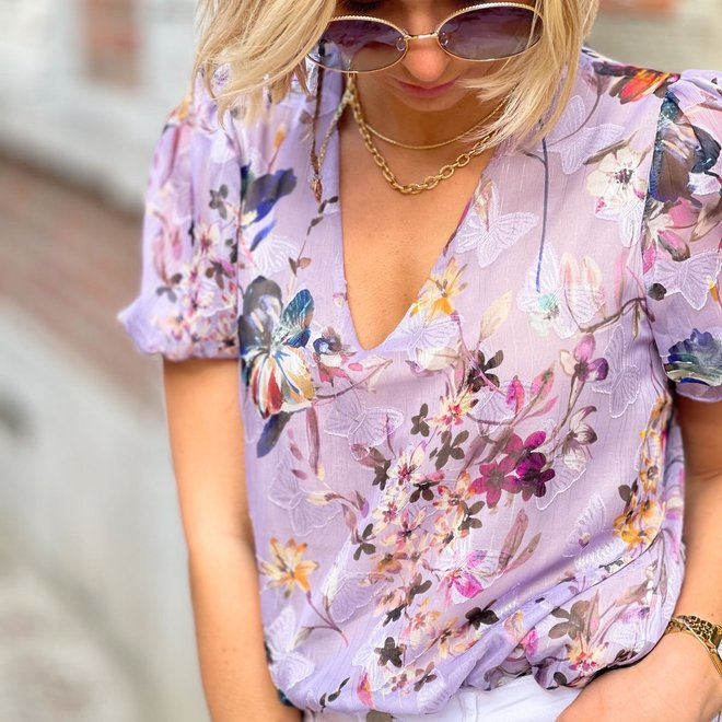 blouse butterfly