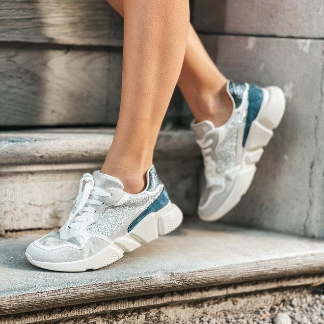 Sneaker zilver blauw FY0518-1
