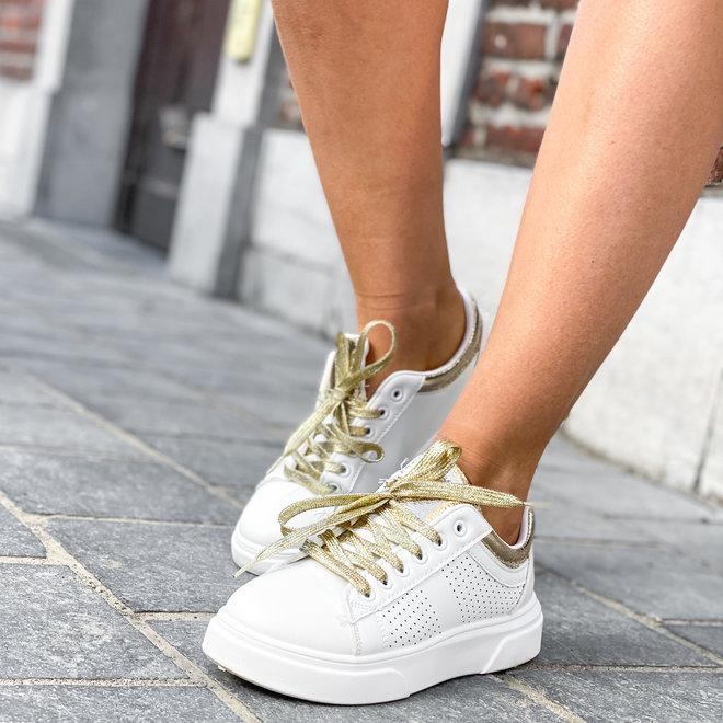 Sneaker white/gold HX-2101