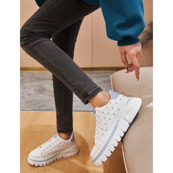2055 sneaker wit/blauw