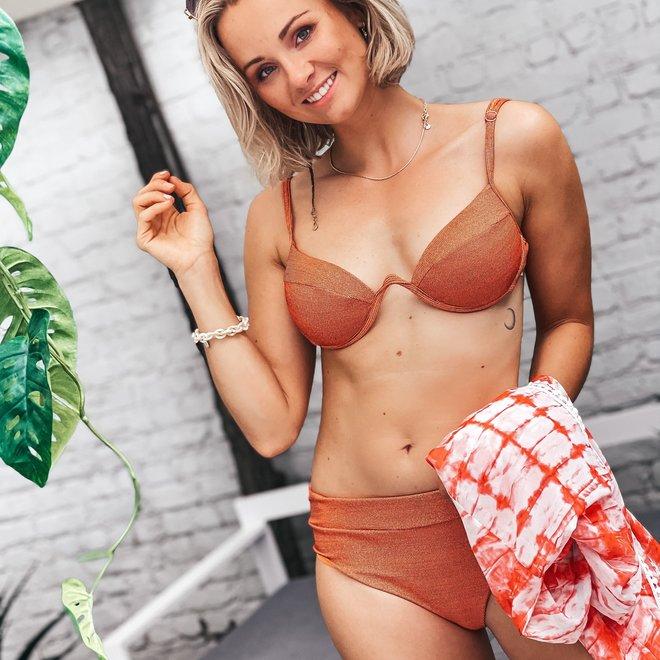 lurex v beugel bikini