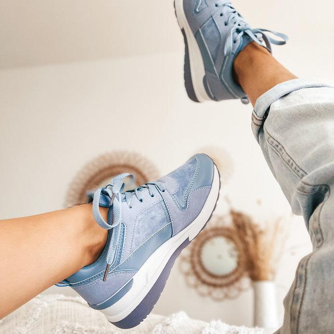 sneaker jeans blauw 6172