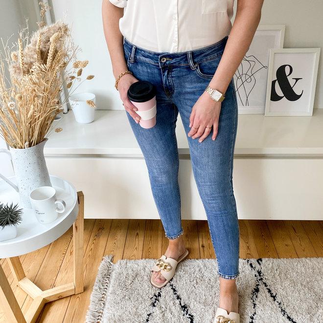 skinny jeans met strik