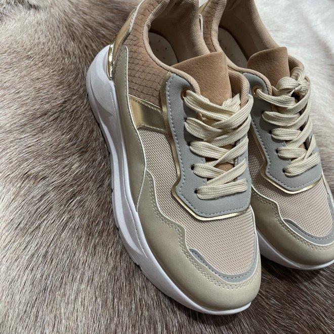 sneaker grey beige b-671