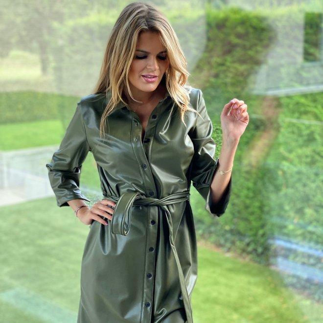 leather dress mia 36