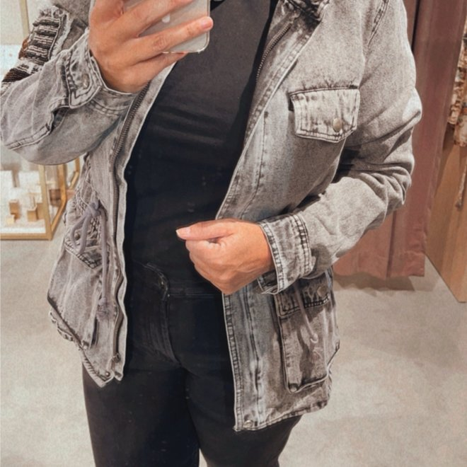 vest h1163 jeans grijs