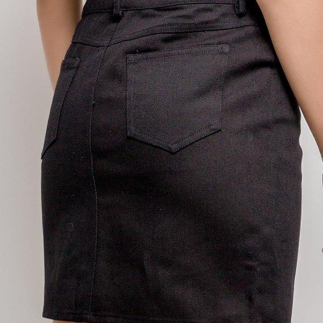 rokje jeans black 3051