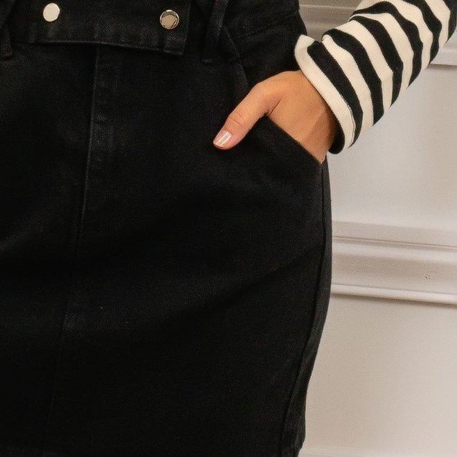 jeans rokje zwart 3619