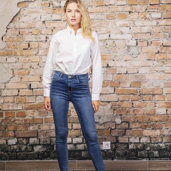 jeans skinny high weist h2523-1