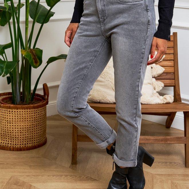 grijze jeans relax d1424