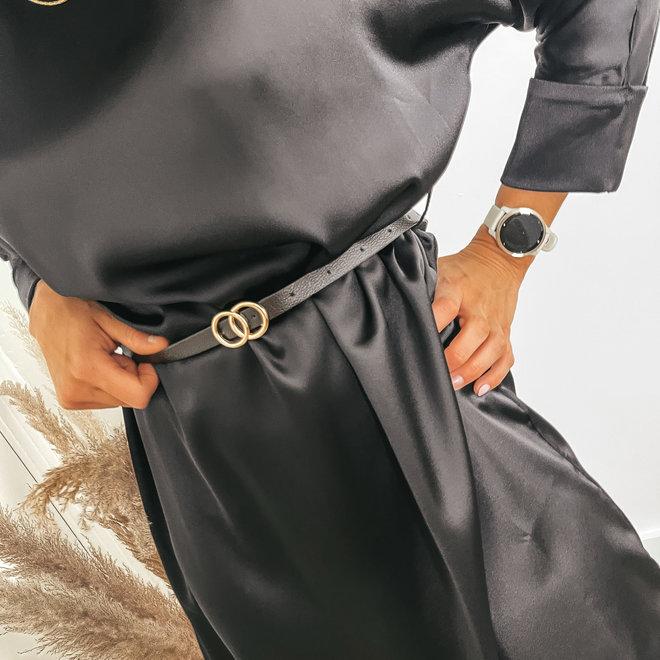 dress satin belt 6667