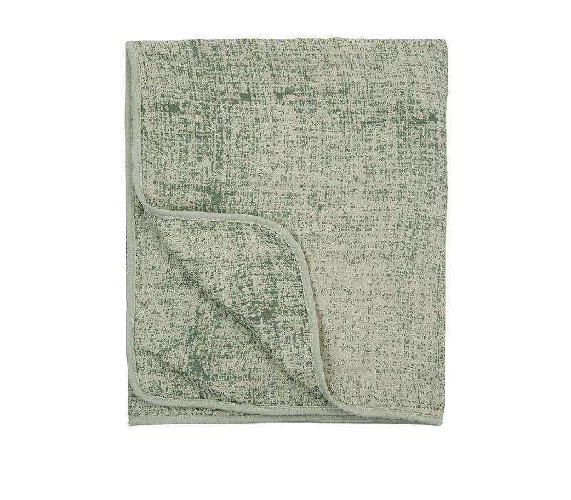 Meyco hydrofiele deken-Fine lines forest green