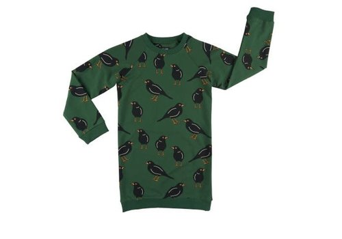 CarlijnQ CarlijnQ black bird - sweater dress
