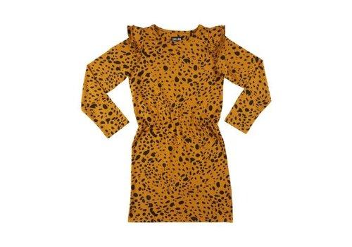 CarlijnQ CarlijnQ spotted animal - dress (ruffled sleeves)