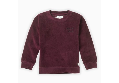 Sproet & Sprout Sproet & Sprout Sweatshirt velvet Don't care