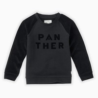 Sproet & Sprout Sweatshirt Panther text