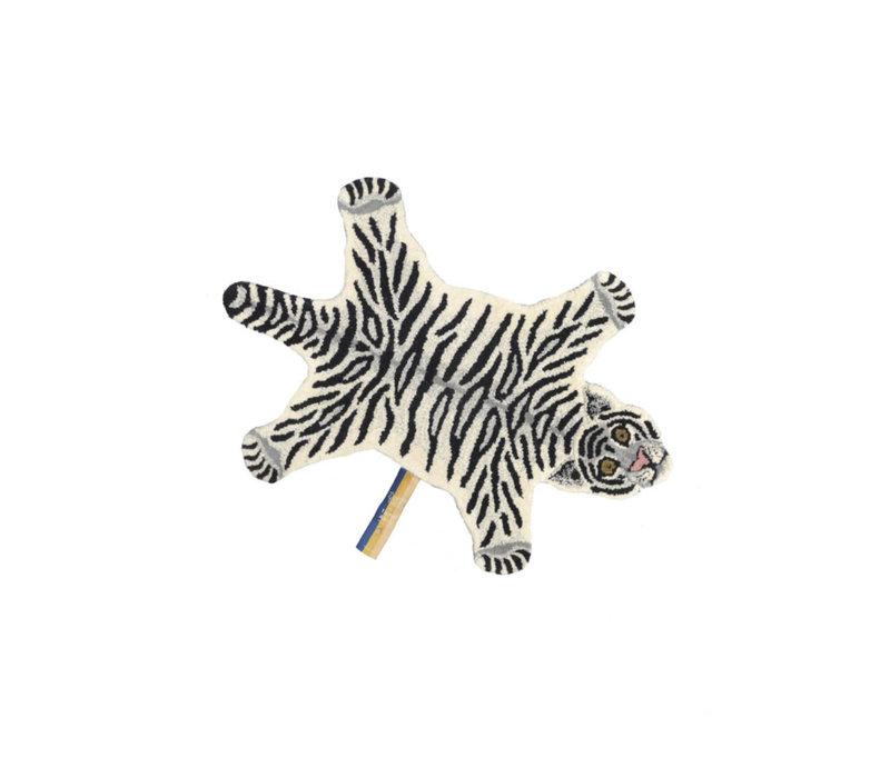 Doing Goods vloerkleed Snowy tiger small