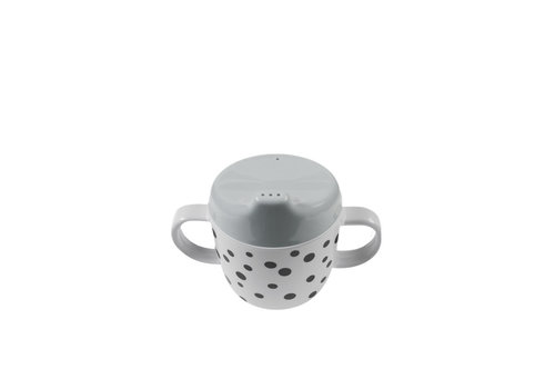 Done by Deer Done by Deer 2-handle spout cup, Happy dots, grey