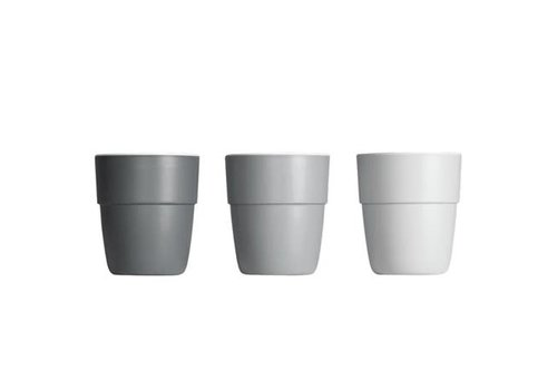 Done by Deer Done by Deer Yummy mini mug, 3-pack, grey tones