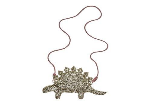 Mimi & Lula Mimi & Lula Glitter stegosaurus cross body