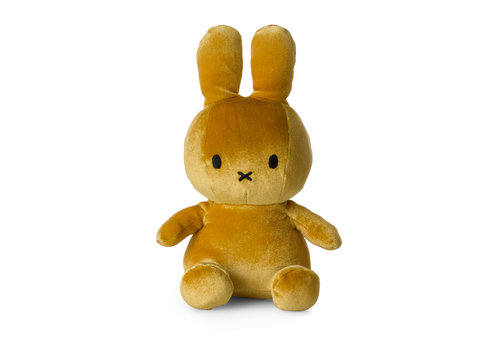Nijntje Nijntje velvet knuffel geel 23 cm