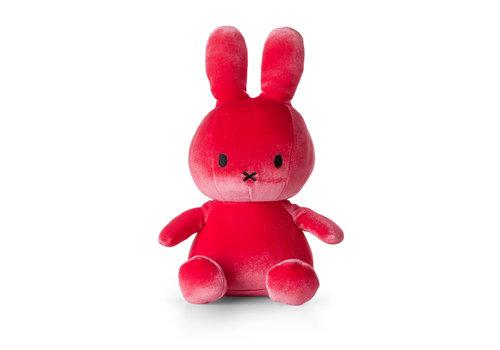 Nijntje Nijntje velvet knuffel candy pink 23 cm