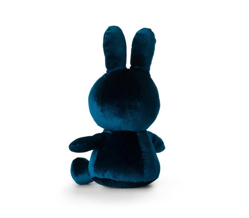 Nijntje velvet knuffel donkerblauw 23 cm